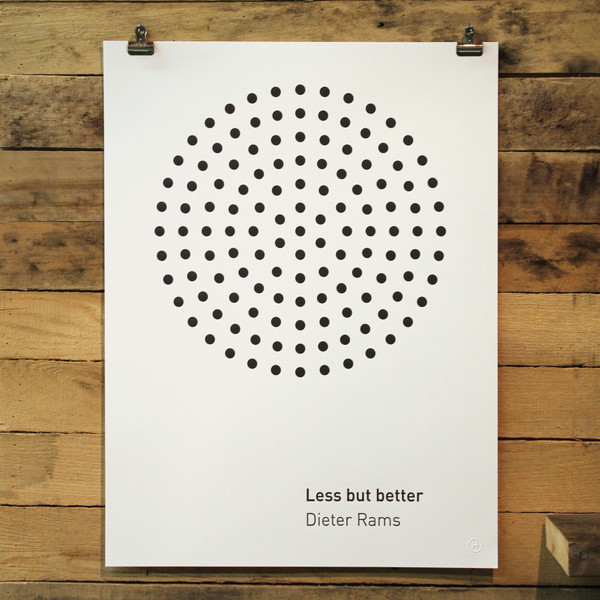 less is better