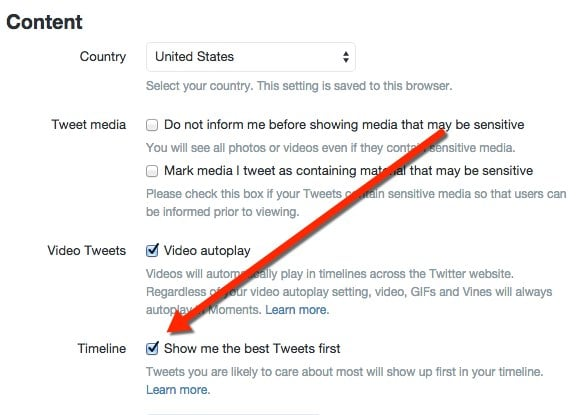 how to change settings on twitter
