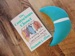 The Conscious Closet Book with Miles the Moon plush toy mascot